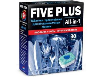 Таблетки для посудомоечных машин Five Plus All-in-1 (30 шт.)
