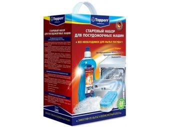 Стартовый набор для посудомоечных машин Topperr 3304 Соль + ополаскиватель + таблетки