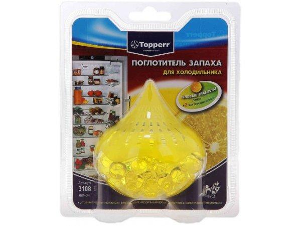 Поглотитель запаха для холодильника Topperr 3108 Лимон