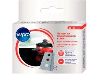 Комплект сменных лезвий к скребку для стеклокерамики Wpro BLA118