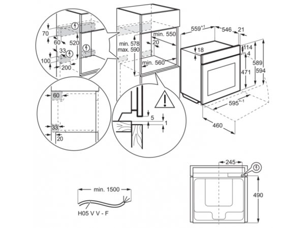 Электрический духовой шкаф Electrolux OKE5H71X