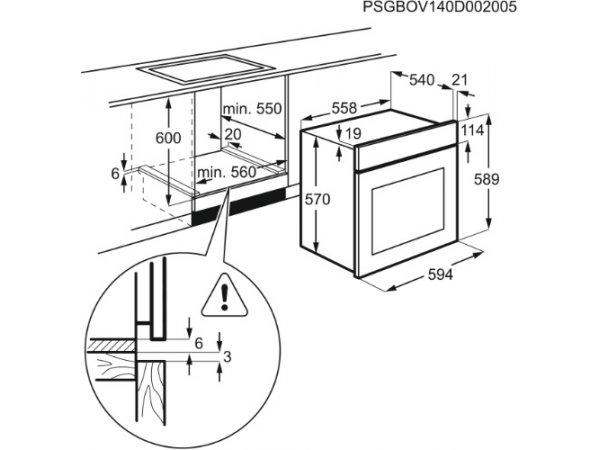 Электрический духовой шкаф Electrolux RZB2100AJK