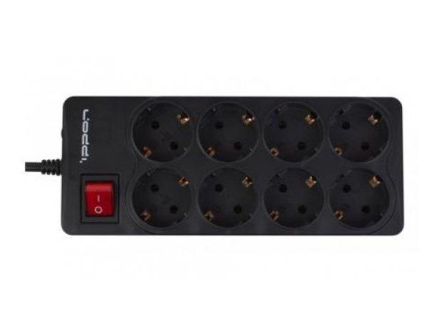Сетевой фильтр Ippon BK-238, 3 м, черный