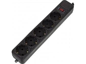 Сетевой фильтр PC PET AP01006-E-BK, 1.8м, черный