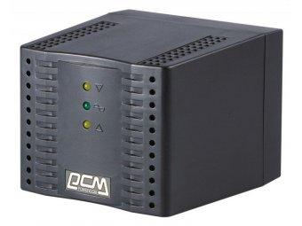 Стабилизатор напряжения Powercom TCA-1200 черный