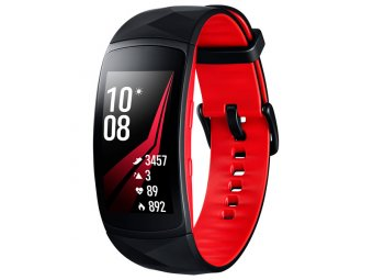 Фитнес-браслет Samsung Gear Fit2 Pro Black/Red, размер L (SM-R365NZRASER)