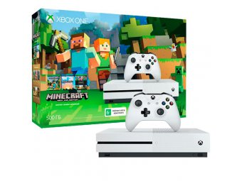 Игровая консоль Microsoft Xbox One S 500 Gb + Minecraft (ZQ9-00048)