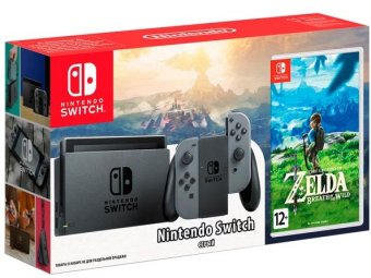 Игровая консоль Nintendo Switch серая + The Legend of Zelda: Breath of the Wild