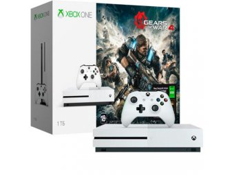 Игровая консоль Microsoft Xbox One Microsoft S 1Tb+Gears of War 4+Xbox Live 3м. (234-00013-1)