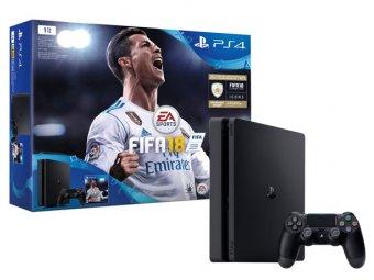 Игровая консоль Sony PlayStation Slim 4 1Tb FIFA 18 + PS Plus 14 дней (CUH-2108B)