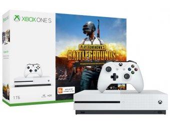 Игровая консоль Microsoft Xbox One S 1 ТБ+PUBG (код)+XboxLiveGold 1 мес+Game Pass 1м