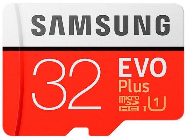 Карта памяти Samsung microSDHC 32GB Evo Plus с адаптером (MB-MC32)