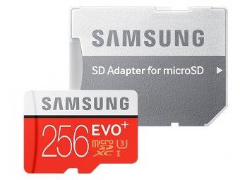 Карта памяти Samsung microSDXC 256GB Evo Plus с адаптером (MB-MC256)