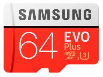 Карта памяти Samsung microSDXC 64GB Evo Plus (MB-MC64)