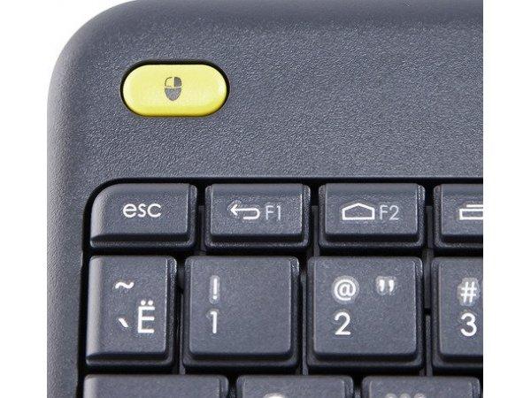 Клавиатура для SmartTV Logitech Wireless Touch K400 Plus Black