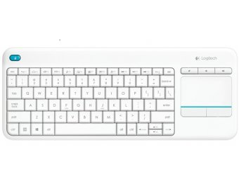 Клавиатура для SmartTV Logitech Wireless Touch K400 Plus White