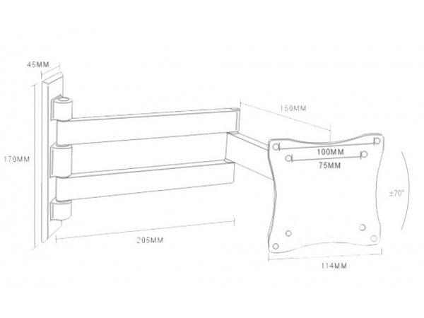 Кронштейн Arm-Media LCD-7101 (чёрный)