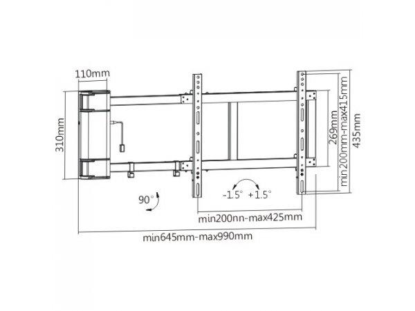 Кронштейн Brateck PLB-M03