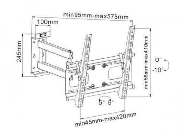 Наклонно-поворотный кронштейн Resonans PS500