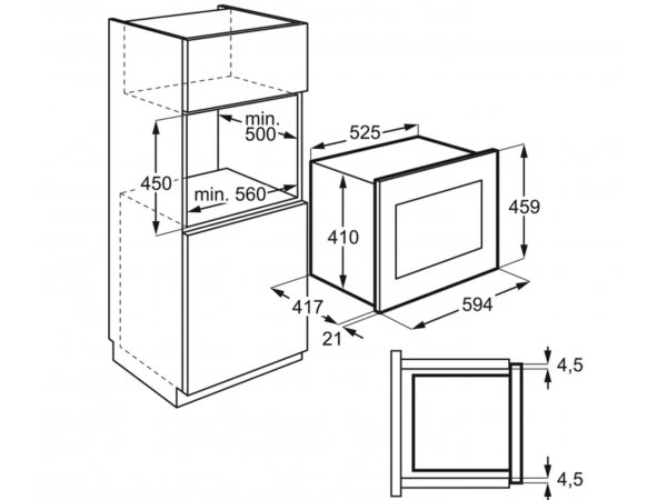 Встраиваемая микроволновая печь Electrolux KMFD 264 TEX