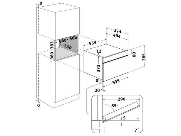 Встраиваемая микроволновая печь Indesit MWI 4343 BL