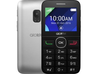 Мобильный телефон Alcatel One Touch 2008G Black/Metal Silver