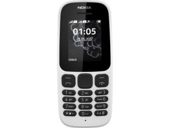 Мобильный телефон Nokia 105 Dual sim (2017) White (TA-1034)