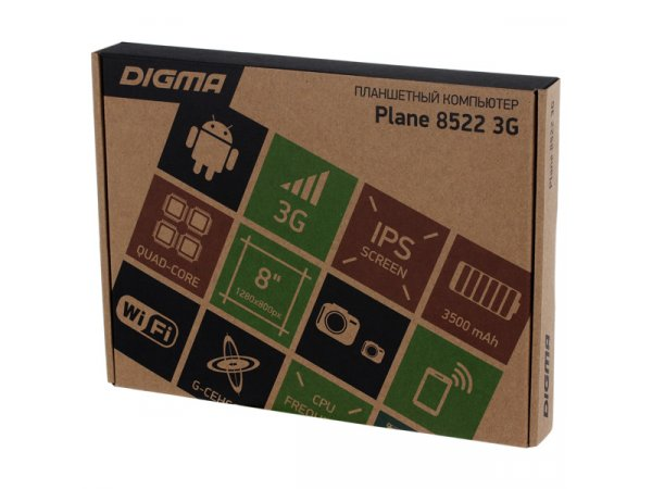 Планшет Digma Plane 8522 3G Black