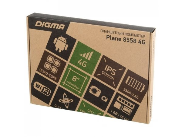 Планшет Digma Plane 8558 8.0 16Gb LTE Black