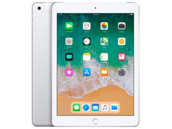 Планшет Apple iPad (2018) 128GB Wi-Fi+Cellular Silver (MR732RU/A)