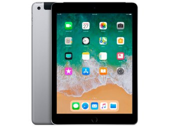 Планшет Apple iPad (2018) 128GB Wi-Fi+Cellular Space Gray (MR722RU/A)