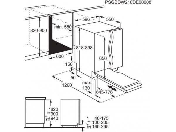Встраиваемая посудомоечная машина Electrolux EEA917120L