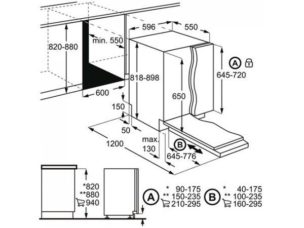 Встраиваемая посудомоечная машина Electrolux EMS 27100 L