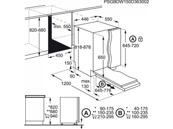 Встраиваемая посудомоечная машина Electrolux ESL94320LA