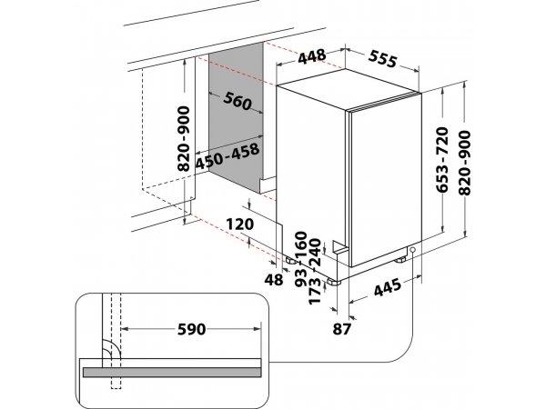 Встраиваемая посудомоечная машина Hotpoint/Ariston BDH20 1B53