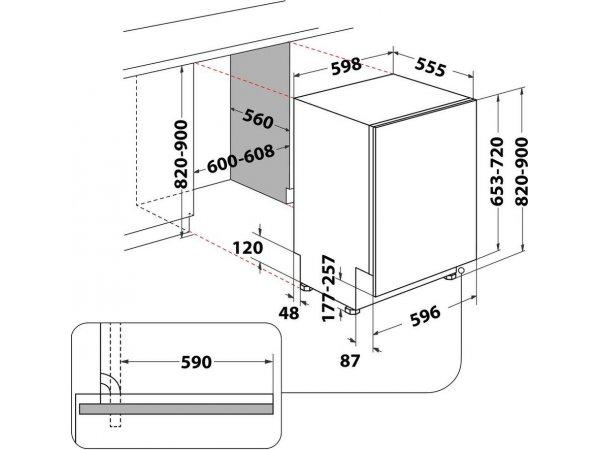 Встраиваемая посудомоечная машина Hotpoint/Ariston HIC 3B19 C