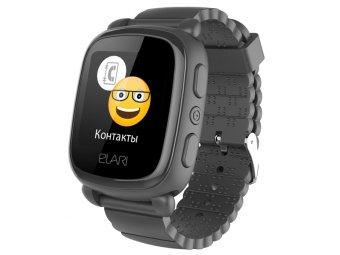 Умные часы с GPS трекером Elari Kid Phone 2 Black