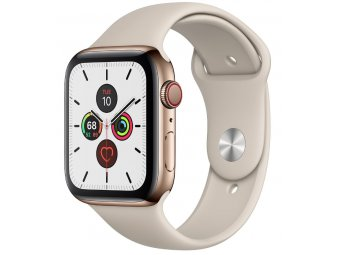 Смарт часы Apple Watch Series 5 GPS + Cellular 40mm Stainless Steel Case with Sport Band Gold (MWWU2)