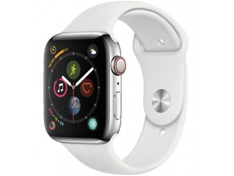 Смарт часы Apple Watch Series 5 GPS + Cellular 40mm Stainless Steel Case with Sport Band Silver (MWWR2, MWX42)