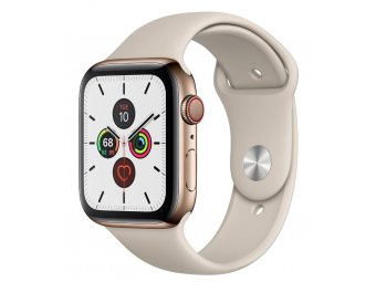 Смарт часы Apple Watch Series 5 GPS + Cellular 44mm Stainless Steel Case with Sport Band Gold (MWWH2, MWW52)