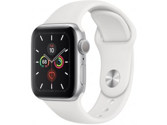 Смарт часы Apple Watch Series 5 GPS + Cellular 44mm Stainless Steel Case with Sport Band Silver (MWW22, MWWF2)