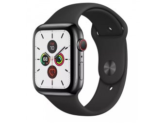 Смарт часы Apple Watch Series 5 GPS + Cellular 44mm Aluminum Case with Sport Band Space Grey