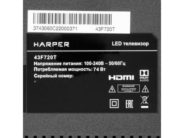 """LED телевизор 43"""" HARPER 43F720T"""