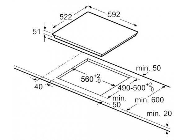 Индукционная варочная панель Bosch PUE631BB1E