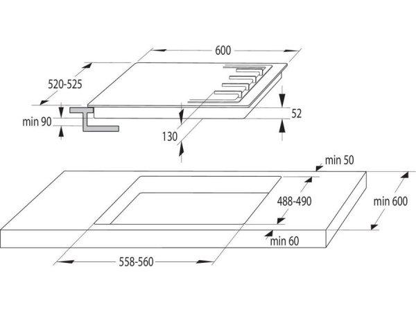 Комбинированная варочная панель Gorenje GCE691BSC