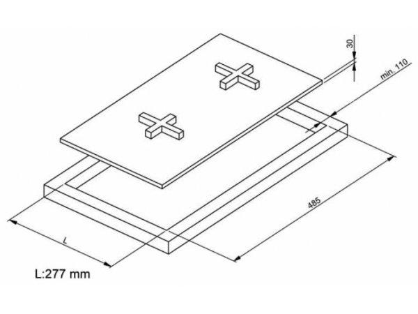 Газовая варочная панель Korting HGG 382 CTN
