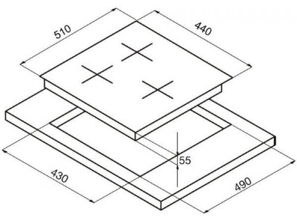 Индукционная варочная панель Korting HI 42031 B