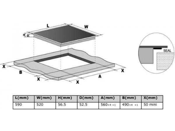 Индукционная варочная панель Midea MIH64721FW