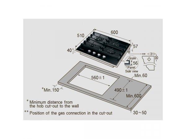 Газовая варочная панель Samsung NA64H3010AK