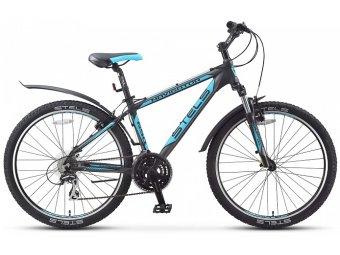 Велосипед для взрослых STELS Navigator 650 V 26 (2016) (рама 19.5) чёрный/серебристый/голубой